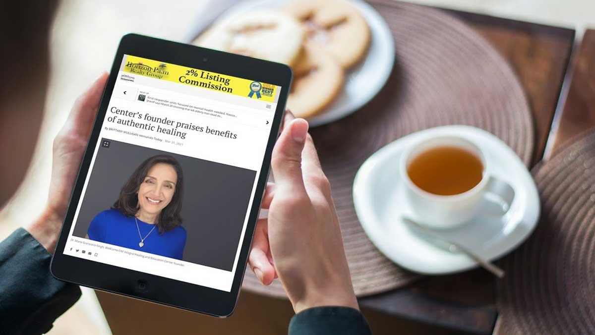 Dr. Maria Scunziano-Singh press article