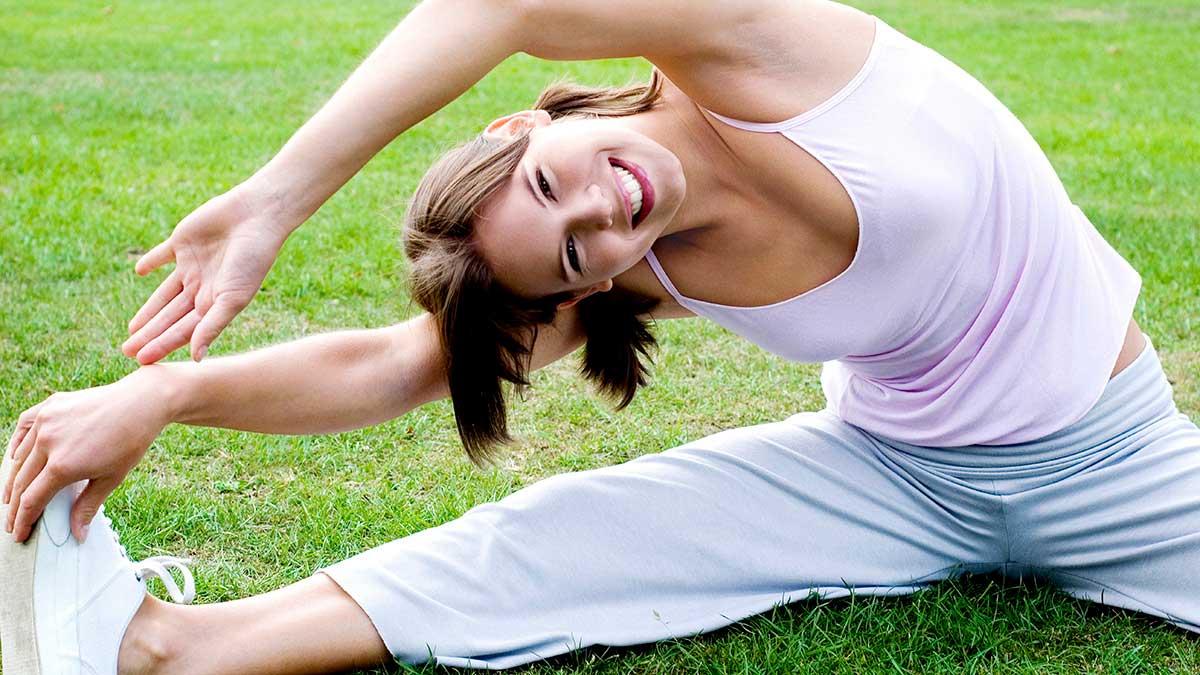 woman flexercising