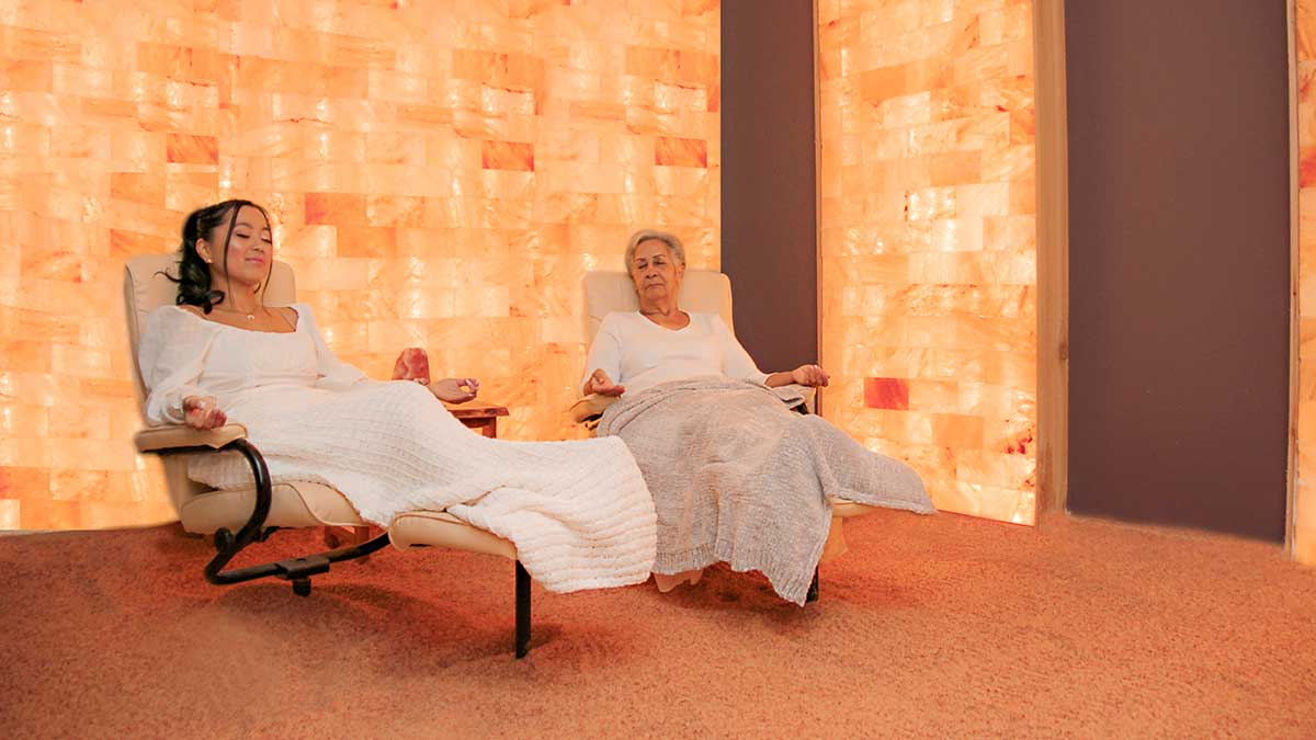 two women getting halotherapy in hernando county fl